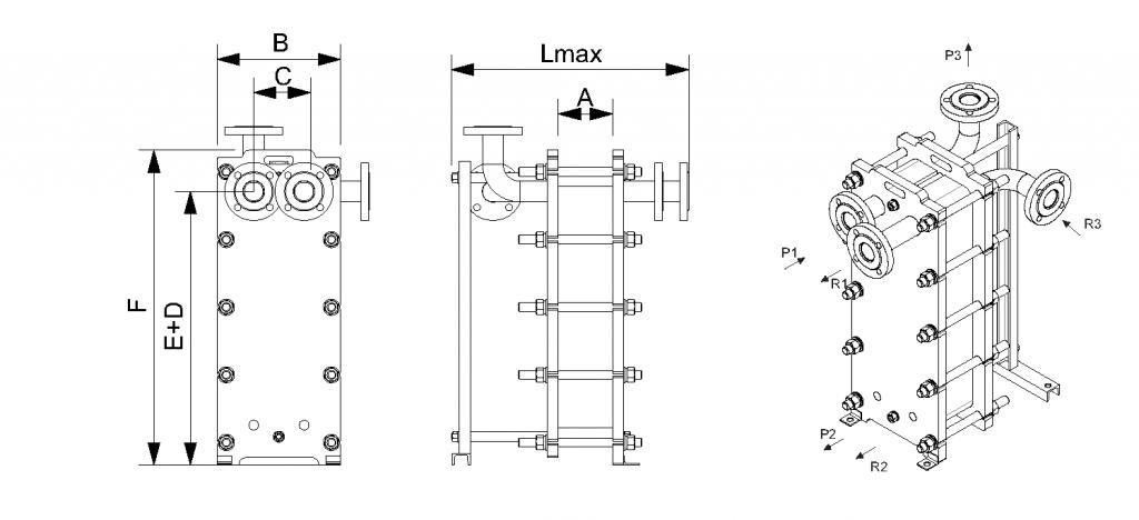 Уплотнения теплообменника ТПР 1 Тюмень подключение трубчатого теплообменника